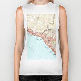 Vintage Map of Laguna Beach California (1965) Biker Tank