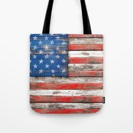 USA Vintage Wood Tote Bag