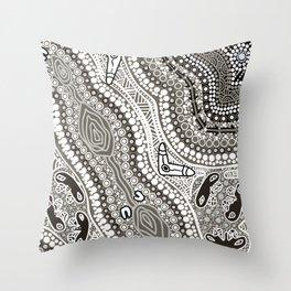 Blaq &White Throw Pillow