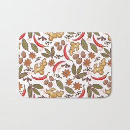 Spices pattern. Bath Mat