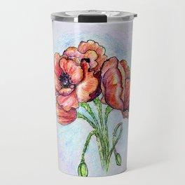 Poppy Flowers Sketch Travel Mug