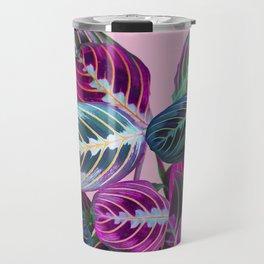 Prayer Plants on a Pink Travel Mug