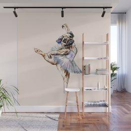 Pug Ballerina in Dog Ballet | Swan Lake  Wall Mural