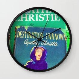 Destination Unknown - Vintage Agatha Christie Wall Clock