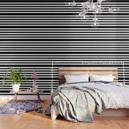 Simply Stripes in Midnight Black Wallpaper