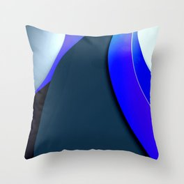 Black and Blue Modern Throw Pillow
