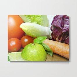 Fresh Vegetables - Restaurant or Kitchen Decor Metal Print