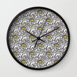 Yellow and Black Nature Snakeskin Eye Graphic Wall Clock