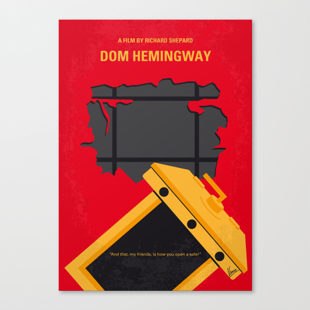 No917 My Dom Hemingway Minimal Movie Poster Canvas Print by Chungkong CNV8830731