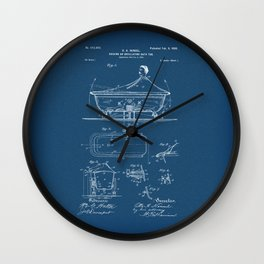 Rocking Oscillating Bathtub Patent Engineering Blueprint Wall Clock