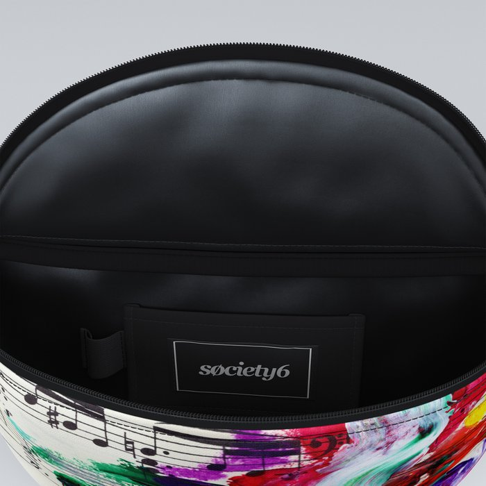 Musical Beauty - Floral Abstract - Piano Notes Fanny Pack