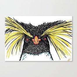 Rock Hopper Penguin Art Print Canvas Print