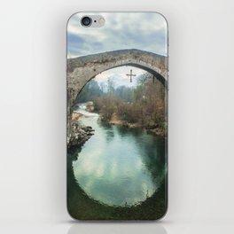 The hump-backed Roman Bridge iPhone Skin