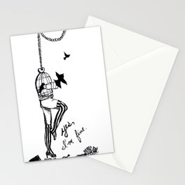 Yes, I'm Fine. - Black and White Stationery Cards