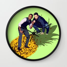 Shawn and Gus - Pineapple  Wall Clock