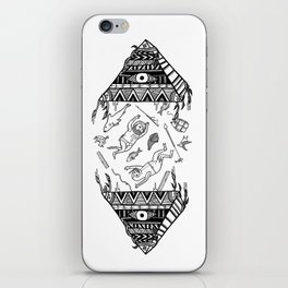 On how the mystical levitation of divers are induced by floating pyramids iPhone Skin