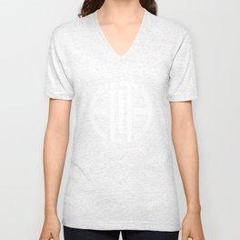 Elite White/Powder Circle Logo Unisex V-Neck