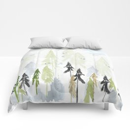 Into the woods woodland scene Comforters