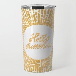 Hello Sunshine Gold Travel Mug