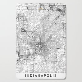 Indianapolis White Map Cutting Board