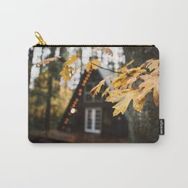 A-Frame Cabin in the Woods Carry-All Pouch
