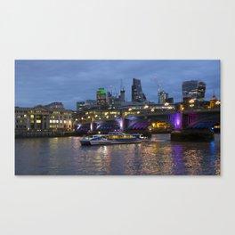 Thames London Twylight Canvas Print