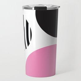 Pink zebra Travel Mug