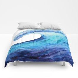 Ocean tsunami wave Comforters