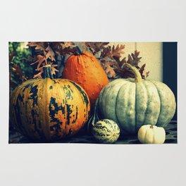 Autumn Pumpkin Gourd Still Life Rug