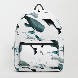 Fish tales: Whale pattern 1 Backpack