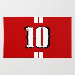 Ten jersey number Rug