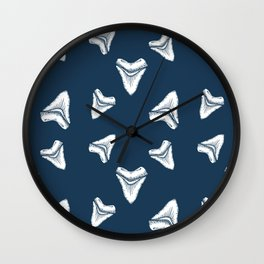 Sharks Tooth Pattern Wall Clock
