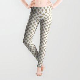 Pale Khaki Polka Dots Leggings