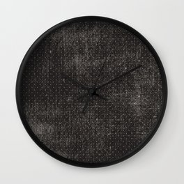 Vintage geometrical black brown polka dots pattern Wall Clock
