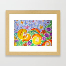 Village of the Butterflies Framed Art Print