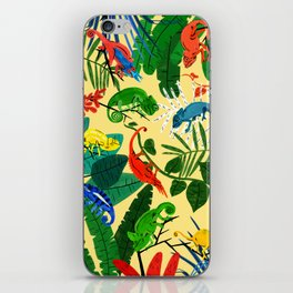 Nine Chameleons Hiding in the Tropics iPhone Skin