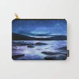 Magical Mountain Lake Blue Carry-All Pouch