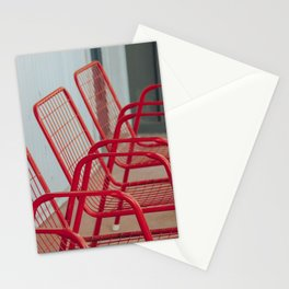 Red Chairs Stationery Cards