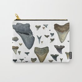 Fossil shark teeth watercolor Carry-All Pouch
