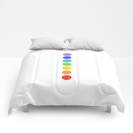 Chakra symbols with respective colors- Spiritual gifts Comforters