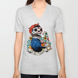 We Can Do It Skull Unisex V-Neck