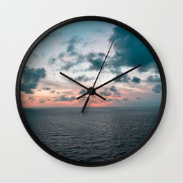 Somewhere Over The Sunset Wall Clock