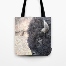 Bison Drive By Tote Bag