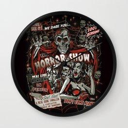 The Horror Show Wall Clock