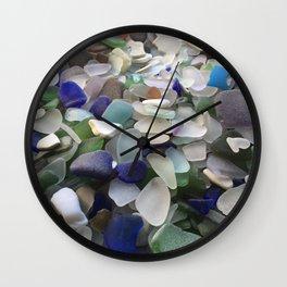 Sea Glass Assortment 5 Wall Clock