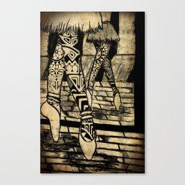 Tribal Ballet Canvas Print