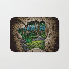 out the cave Bath Mat