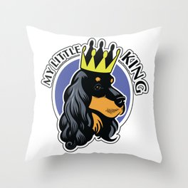 Black and tan cocker spaniel head Throw Pillow