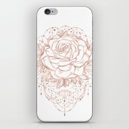 Mandala Lunar Rose Gold iPhone Skin