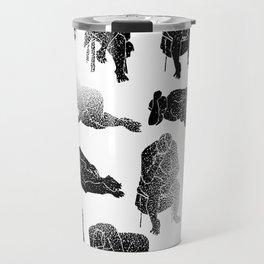 b&w fading figures Travel Mug